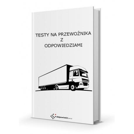 Testy na przewoźnika - Certyfikat kompetencji zawodowych